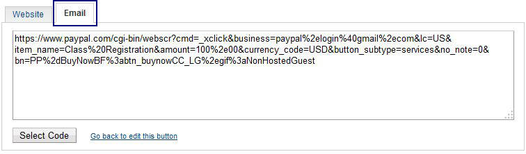 PayPal Non-hosted Button Email Link